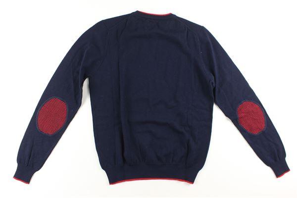 maglia tinta unita con profili in contrasto NORTH SAILS | Maglie | 7960440000928BLU