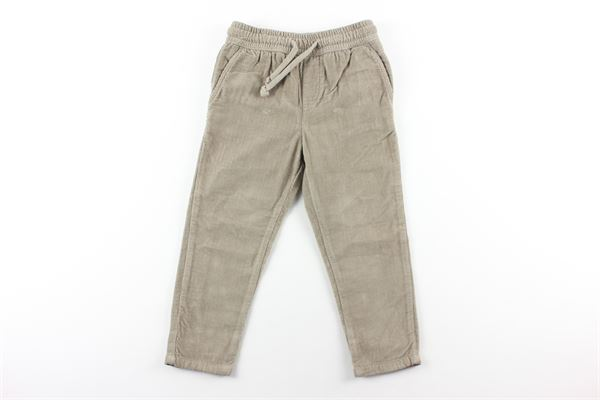pantalone a costine in velluto elastico in vita NUPKEET | Pantaloni | 04NK732BEIGE