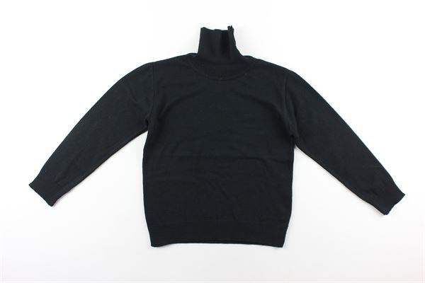 maglia tinta unita collo alto NUPKEET | Maglie | 04NK863NERO