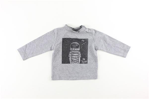 shirt tinta unita con stampa OFFICINA 51 | Shirts | 58054GRIGIO