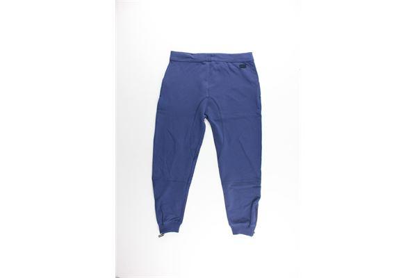 pantalone con elastici tinta unita PAOLO PECORA   Pantaloni   PP0465BLU ELETTRICO