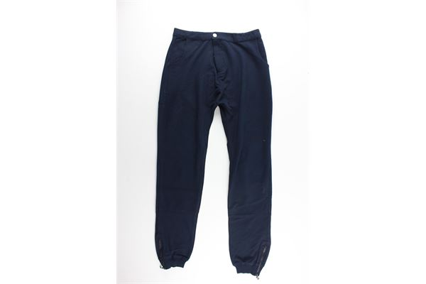 pantalone con elastici tinta unita PAOLO PECORA   Pantaloni   PP0572BLU