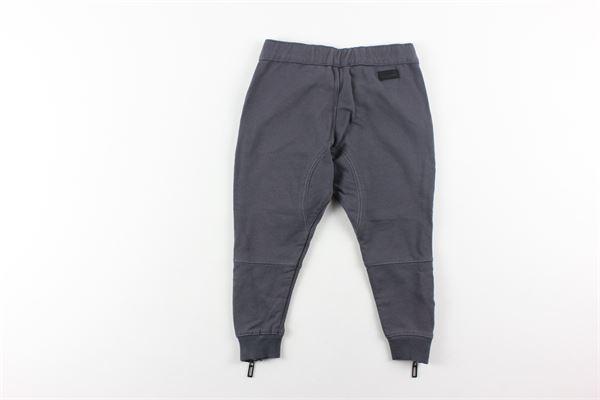 pantalone con elastici tinta unita PAOLO PECORA   Pantaloni   PP0572GRIGIO