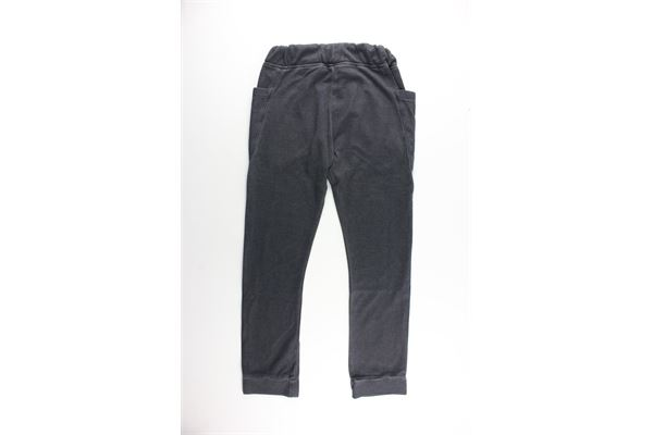 pantalone tinta unita con elastico in vita PAOLO PECORA   Pantaloni   PP0620GRIGIO