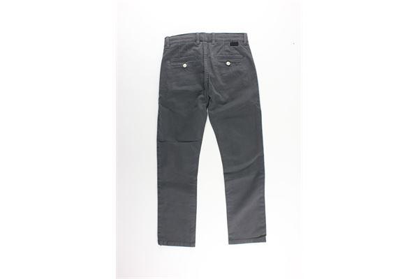 pantalone tinta unita tasca america con girovita regolabile PAOLO PECORA   Pantaloni   PP092GRIGIO