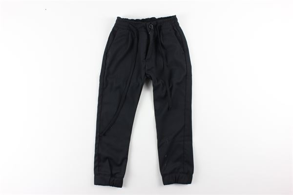 pantalone tinta unita elastico in vita PAOLO PECORA   Pantaloni   PP1475NERO