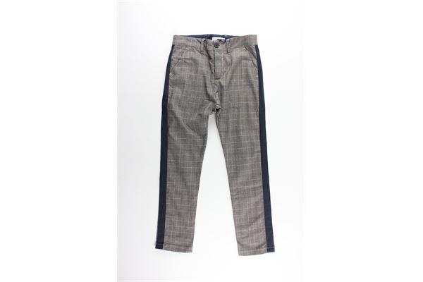 pantalone stampa fantasia con profili in contrasto PAOLO PECORA   Pantaloni   PP1479MARRONE