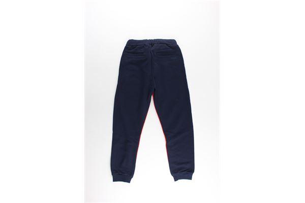 pantalone in felpa tinta unita con profili in contrasto PAOLO PECORA   Pantaloni   PP1797BLU