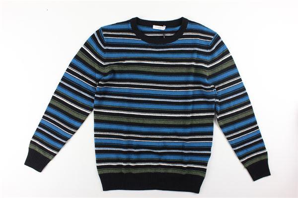 maglia girocollo fantasia a righe multicolor PAOLO PECORA   Maglie   PP1915NERO