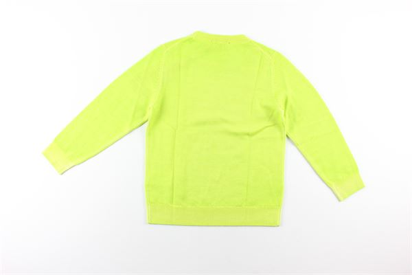 maglia girocollo tinta unita 100%lana PAOLO PECORA   Maglie   PP1928VERDE ACIDO