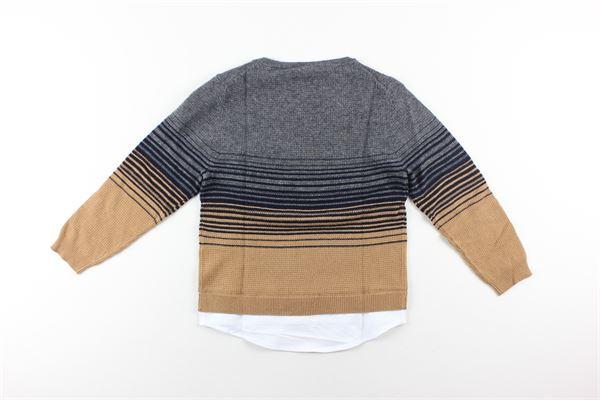 maglia bicolore girocollo PAOLO PECORA   Maglie   PP1939GRIGIO