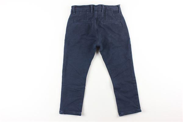 pantalone tinta unita girovita regolabile PAOLO PECORA   Pantaloni   PP1955BLU