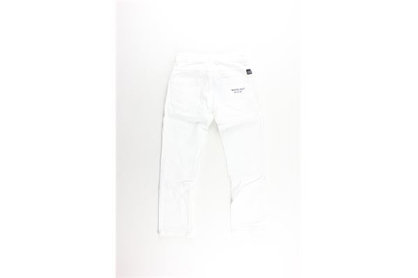 pantalone tinta unita 5 tasche girovita regolabile PAOLO PECORA   Pantaloni   PP1990BIANCO