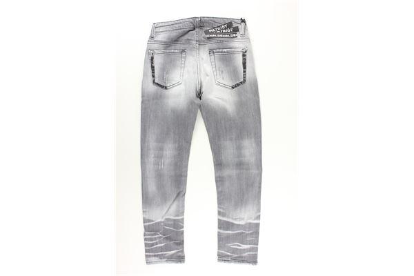 jeans 5 tasche tinta unita con profili in contrasto PATRIOT   Jeans   PB841GRIGIO