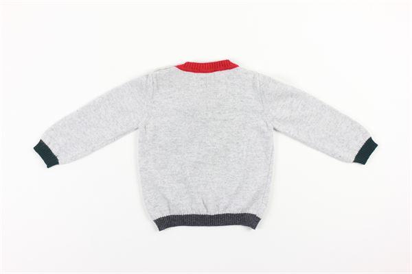 maglia tinta unita con profili in contrasto PEUTEREY | Maglie | PTB0468GRIGIO