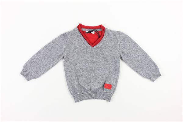 maglia tinta unita con profili in contrasto PEUTEREY | Maglie | PTB0897GRIGIO