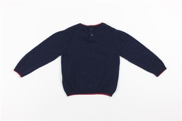 maglia tinta unita con stampa PEUTEREY | Maglie | PTB0903BLU