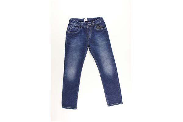 jeans tinta unita con girovita regolabile PEUTEREY | Jeans | PTB1408BLU