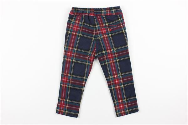 pantalone elastico in vita fantasia scozzese PEUTEREY | Pantaloni | PTB1577ROSSO/BLU