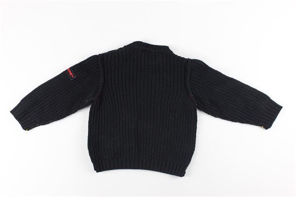 maglia girocollo tinta unita PEUTEREY | Maglie | PTB1588NERO