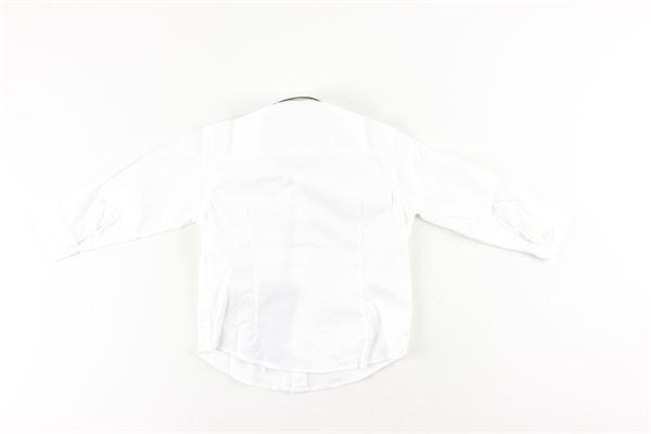 camicia manica lunga tinta unita con stampa logo PEUTEREY | Camicie | PTB1592BIANCO