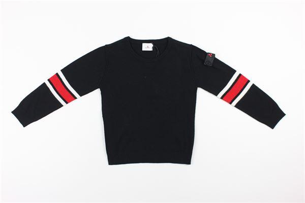 maglia tinta unita con profili in contrasto PEUTEREY | Maglie | PTB1790NERO
