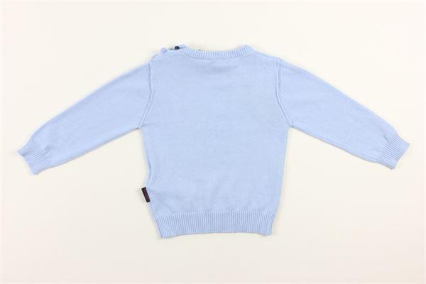 maglia girocollo tinta unita 95% cotone 5%cashmere PEUTEREY | Maglie | PTB1804CELESTE