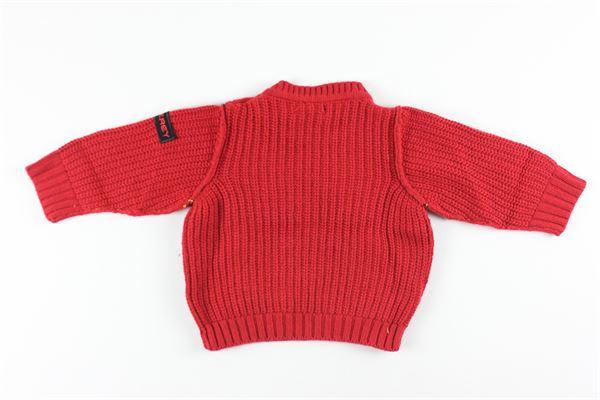 maglia girocollo tinta unita 95% cotone 5%cashmere PEUTEREY | Maglie | PTB1804XROSSO