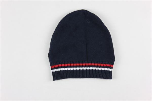 cappello tinta unita con profili in contrasto 95%cotone 5%kashmir PEUTEREY | Cappelli | PTB1828BLU