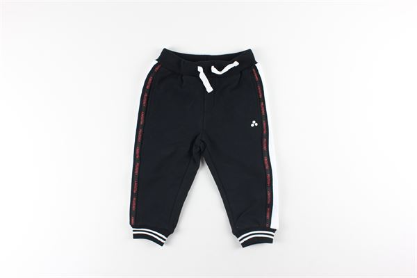 pantalone in felpa tinta unita con profili in contrasto elastico vita PEUTEREY | Pantaloni | PTB1921NERO