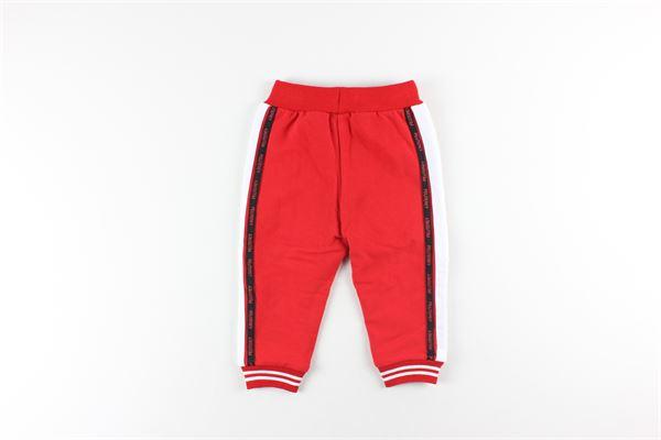 pantalone in felpa tinta unita con profili in contrasto elastico vita PEUTEREY | Pantaloni | PTB1921ROSSO