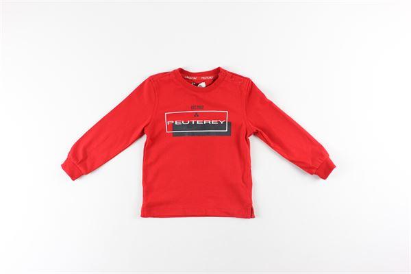 shirt tinta unita con stampa PEUTEREY | Shirts | PTB1936ROSSO