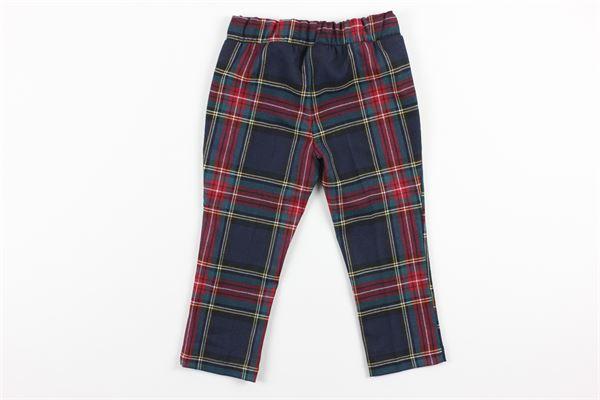 pantalone elastico in vita fantasia scozzese PEUTEREY | Pantaloni | PTG1040ROSSO