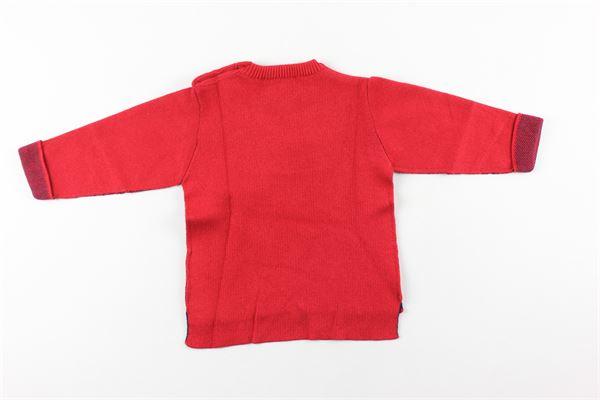 maglia tinta unita con stampa RIFLE | Maglie | 803.96649.00ROSSO