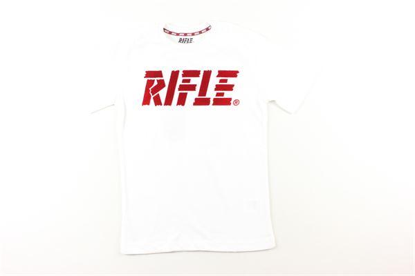 shirt tinta unita con stampa RIFLE | Shirts | 883.94412.00BIANCO