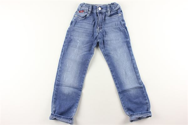 jeans tinta unita girovita regolabile RIFLE | Jeans | JEANS11AZZURRO