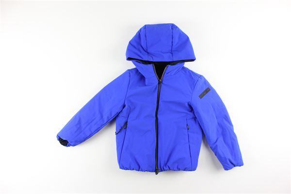 giubbino reversibile bicolore con zip e cappuccio RRD | Giubbini | W19902NERO/BLU ELETTRICO