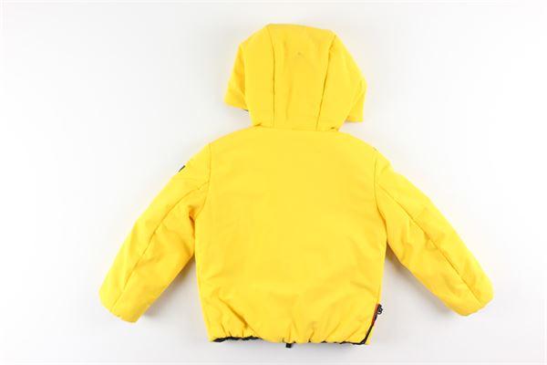 giubbino reversibile bicolore con zip e cappuccio RRD | Giubbini | W19902VERDE/GIALLO