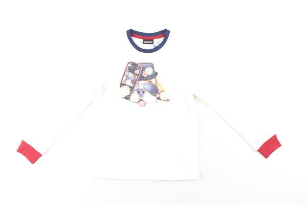 shirt tinta unita con stampa e profili in contrasto SARABANDA | Shirts | 01139BIANCO
