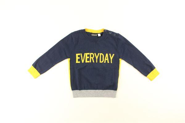maglia tricolore con stampa SARABANDA | Maglie | 3885BLU