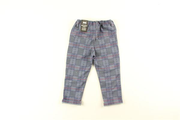 pantalone fantasia quadri girovita regolabilw SARABANDA | Pantaloni | 6NY6BLU