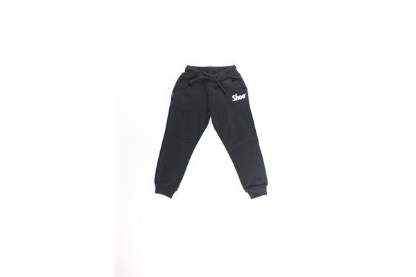 pantalone tuta tinta unita con stampa SHOE | Pantaloni | PAULJ01NERO