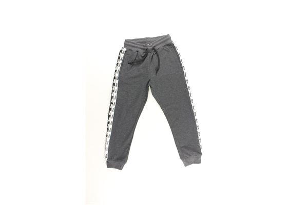 pantalone tuta tinta unita con stampa SHOE | Pantaloni | PIERRIKJ22GRIGIO