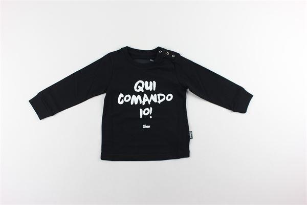 shirt con polsini tinta unita con stampa SHOE | Shirts | TATAB2606NERO