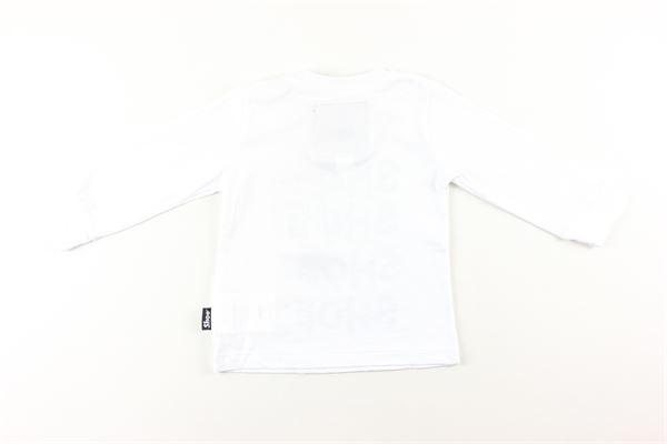 shirt tinta unita con stampa SHOE | Shirts | TATAB2611BIANCO