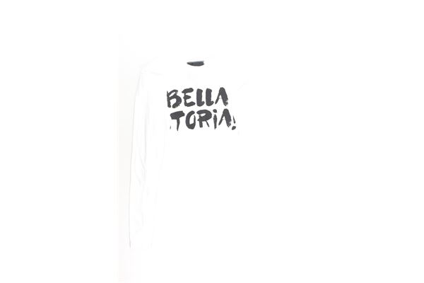shirt con polsini tinta unita con stampa SHOE | Shirts | TONYA4054BIANCO