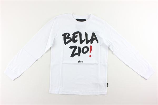 shirt con polsini tinta unita con stampa SHOE | Shirts | TONYJ2130BIANCO