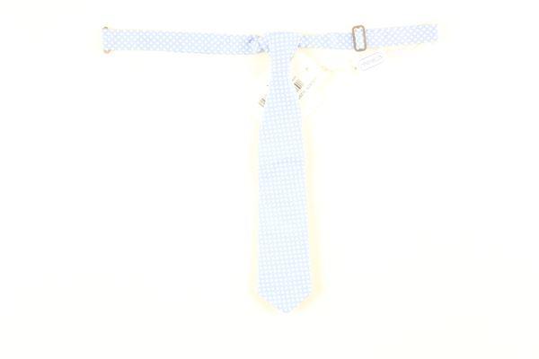 cravatta tinta unita con fantasie palline SIMONETTA | Cravatte | 21110470AZCELESTE
