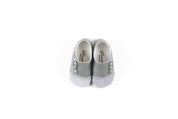 mocassini neonato tinta unita con applicazioni e strappo SONATINA | Mocassini | SCARPE1GRIGIO