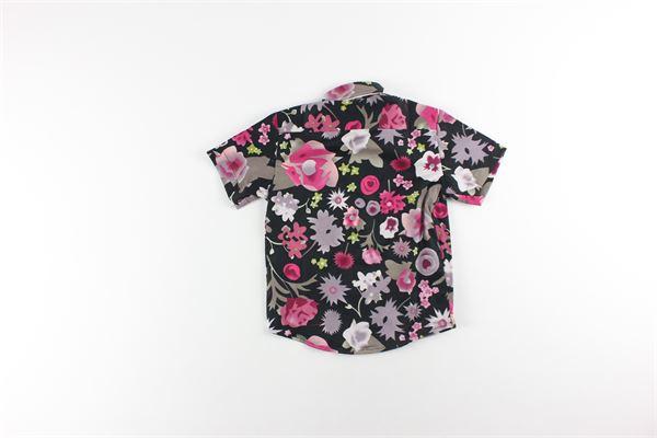 camicia mezza manica fantasia fiori STAY STREET | Camicie | CBN920NERO